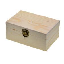 Large Wooden box storage plain wood jewel box case with lid lock 150x98x69mm