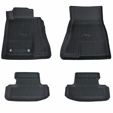 OEM NEW 2015-2019 Ford Mustang All Weather Tray Style Rubber Contour Floor Mats