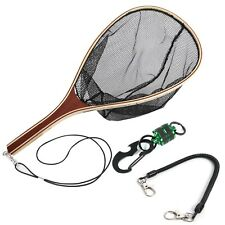 MAXIMUMCATCH Maxcatch Fly Fishing Landing Net Trout Net Wooden Frame with Rub...