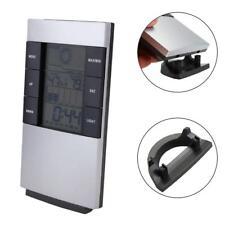 Digital Thermometer Humidity Meter Room Temperature Indoor Hygrometer Clock FT