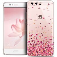 Coque Crystal Gel Pour Huawei P10 Extra Fine Souple Sweetie Heart Flakes