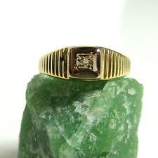 Damen Ring 52 (16,5 mm Ø) 585/14k Gold Brillant 0,010 ct Diamant