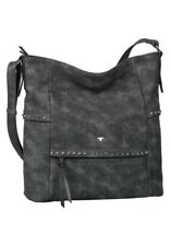 Tom Tailor graue XL Handtasche Schultertasche Umhängetasche groß Nieten