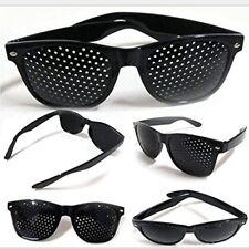 Anti-fatigue Vision Care Stenopeic Pinhole Glasses Eyesight Improver Black