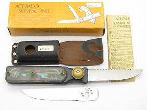 Vtg ACE-PAL-O Seki Japan Blk Apollo Space Age Survival Knife Folding Multi Tool
