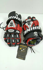 "Brine Reign On Bkg-Mbr King Iv Lacrosse Gloves Medium 12"" Black / Red"