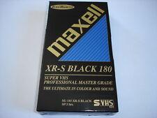 MAXELL XR-S BLACK 180 S-VHS Videokassette Super VHS Kassette NEU RARITÄT