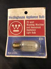 VTG Westinghouse 25 Watt 25T8DC Washing Machine Household Appliance Bulb NOS NEW