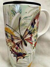 Turnowsky Butterfly Ceramic Travel Mug In Lidded Presentation Box