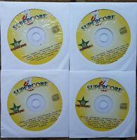 4 CDG KARAOKE DISCS OLDIES/STANDARDS/ROCK SUPERCORE - ORBISON MUSIC CD *SALE*