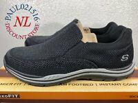 Skechers Men's Relaxed Fit Gomel Memory Foam Slip-On Shoes ~ Black ~ Pick Size