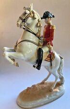 Augarten~HOFBURG SPANISH RIDING SCHOOL LIPIZZAN HORSE & RIDER, COURBETTE~Mint