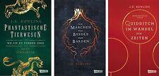 Harry Potter Hogwarts Schulbücher von J K Rowling alle 3 Bände im Set Gebunden