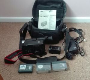 JVC compact VHS video camcorder GR-AX270