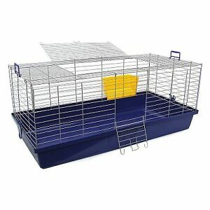 Maxi Indoor Rabbit Cage Small Animal Pet Home Rat Guinea Pig Hutch House 120 CM