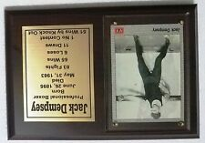 Jack Dempsey Boxing Card Plaque
