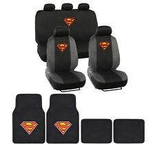Superman Seat Cover and Floor Mats Full Gift Set - Official WB Products
