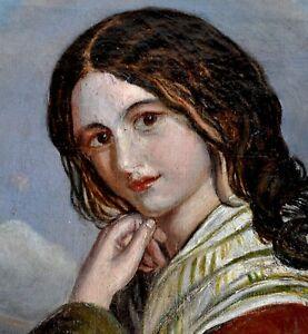 Tableau - Huile sur toile - Portrait monogrammé - XIXème