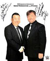 WWE FUNAKI AND SHUN HAND SIGNED AUTOGRAPHED 8X10 ORIGINAL PROMO PHOTO WITH COA
