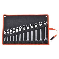 Flexible Wrench Spanner Head Ratchet Car Auto Repair Tool Kit 12pc 8-19mm Metric