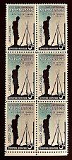 US Stamps, Scott #1182 5c Appomattox Civil War Issue 1965 Block of 6 XF M/NH