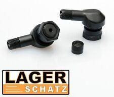 2 x Alu Winkelventile schwarz für BMW Motorräder 2 Stk. Reifenventil eloxiert