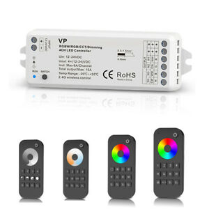 PWM RGB RGBW Einfarbiger LED RF Funk Dimmer 12V-24V mit 4 Zonen Fernbedienung