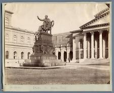 Allemagne, Munich, Statue de Masc-Josef Vintage albumen print.  Tirage albumin