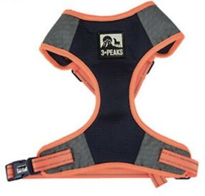 3 Peaks Expedition Dogs Navy/orange Mesh Harness Reflective Small 41-56cm