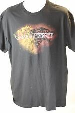 Mens Game of Thrones House Stark Dire Wolf Black Short Sleeved T Shirt Size XL