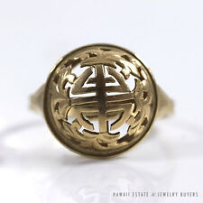 MING'S HAWAII CHINESE 14K YELLOW GOLD DOME RING (SZ 5)