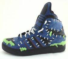 ADIDAS Jeremy Scott JS Mad Balls High Top Sneakers Blue M18992 US 13 EU 48 RARE