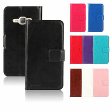 Matte Mobile Phone Wallet Cases for Samsung Galaxy J1