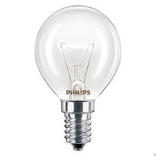 4 x PHILIPS Branded Oven 40w Lamp SES E14 Small Screw Cap 300° Cooker Light Bulb