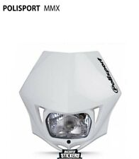 Mascherina portafaro MMX polisport bianca universale moto cross enduro hm