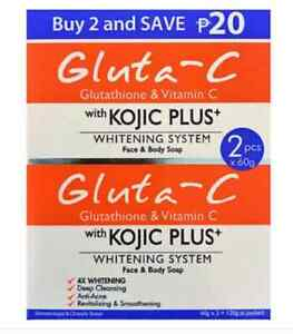 Gluta-C with Kojic Plus Lightening Face & Body Soap  60g x 2