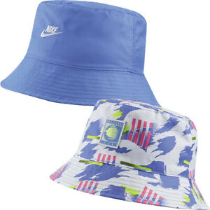 NIKE NIKECOURT ALL-OVER-PRINT REVERSIBLE BUCKET HAT (SAPPHIRE) CW6429-500. $40