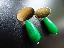 Echter Edelsteine-Ohrschmuck im Ohrstecker-Stil mit Smaragd und Tropfen