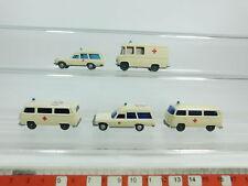 bd354-0, 5 #5x Wiking H0 / 1:87 Ambulance: 320 Volkswagen +70 Mercedes etc. ,
