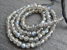 "CUT LABRADORITE ROUNDS, 3.5mm, 13"" string, 85 beads"
