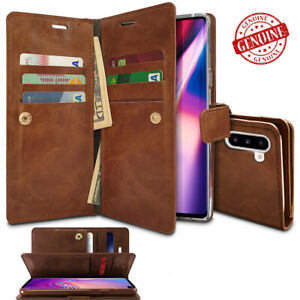 For Galaxy S20 21 Note 10 Double Flip book Leather Wallet Case Cover Shockproof