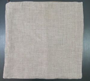 Pottery Barn Linen Pillow Cover Brown 24x24 Masters of Linen