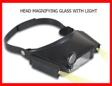 MAGNIFYING GLASSES & HEADBAND + LED Light Hands Free Jewellers Watch Repair Lens