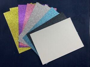 10 x Glitter Card Sheets-A6/C6 300gsm -Sparkling Pink/Gold/Silver/SMALL/DEFECTS