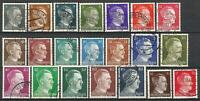 Germany Third Reich 1941/1944 Used Hitler Definitives Complete set 21 values