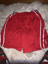 AND 1 Men's Basketball Shorts Adjustable Elastic Waist Size XXL Red & White