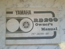 yamaha rd200 owners manual