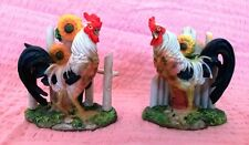Pair of Rooster Figurines