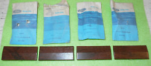 1972-1974 Lincoln Continental Town Car NOS WOOD GRAIN DOOR PULL STRAP END COVERS