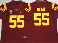 NEW Mens USC Trojans Red #55 SEAU College Football Custom Jersey